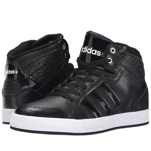 9c05c1f5a99e adidas Shoes - ADIDAS NEO RALEIGH MID W LEOPARD DETAIL BLACK